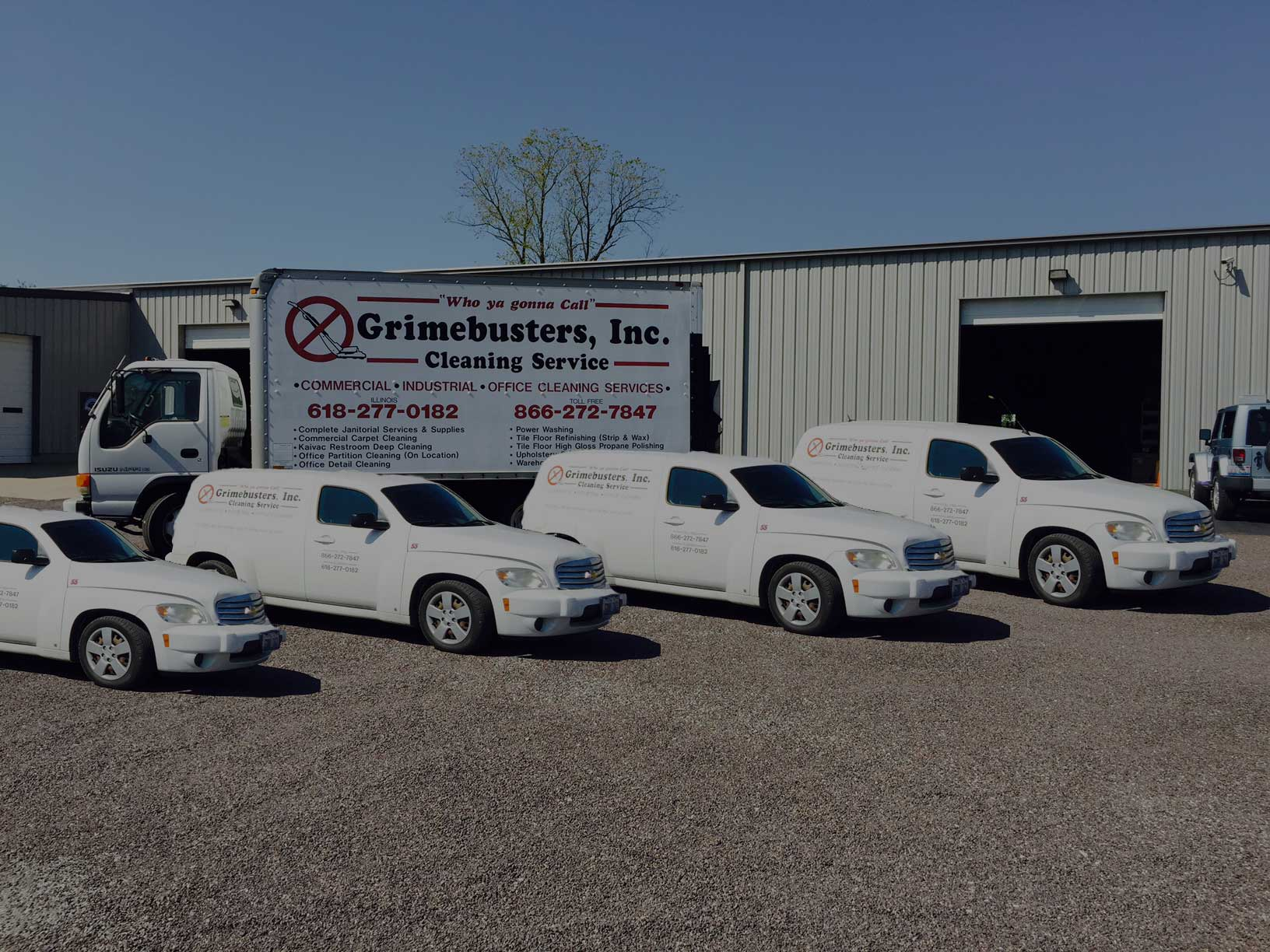 GRIMEBUSTERS, INC IS PROFESSIONAL CLEAN